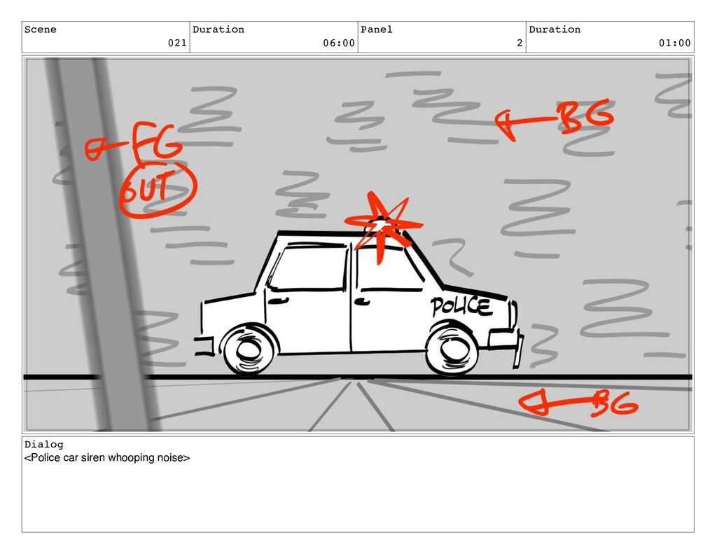 Scene 021 Duration 06:00 Panel 2 Duration 01:00...