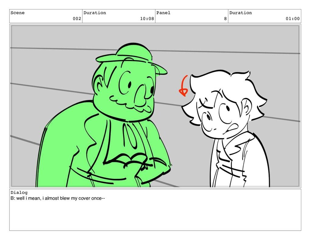 Scene 002 Duration 10:08 Panel 8 Duration 01:00...