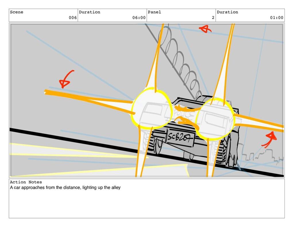 Scene 006 Duration 06:00 Panel 2 Duration 01:00...
