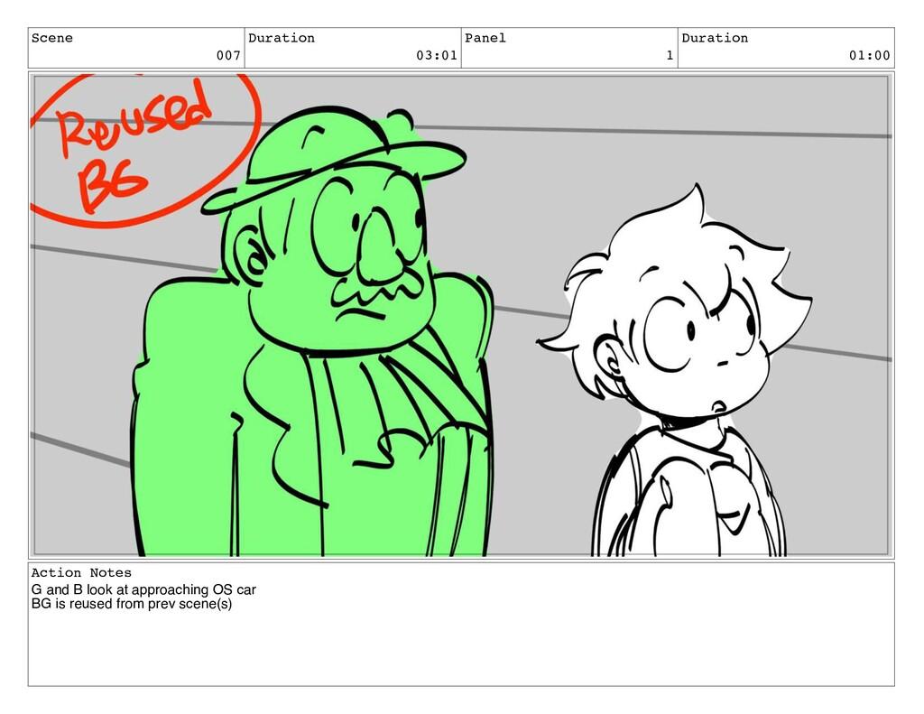Scene 007 Duration 03:01 Panel 1 Duration 01:00...