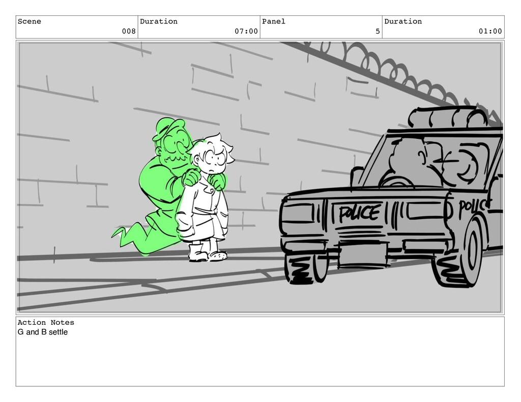 Scene 008 Duration 07:00 Panel 5 Duration 01:00...