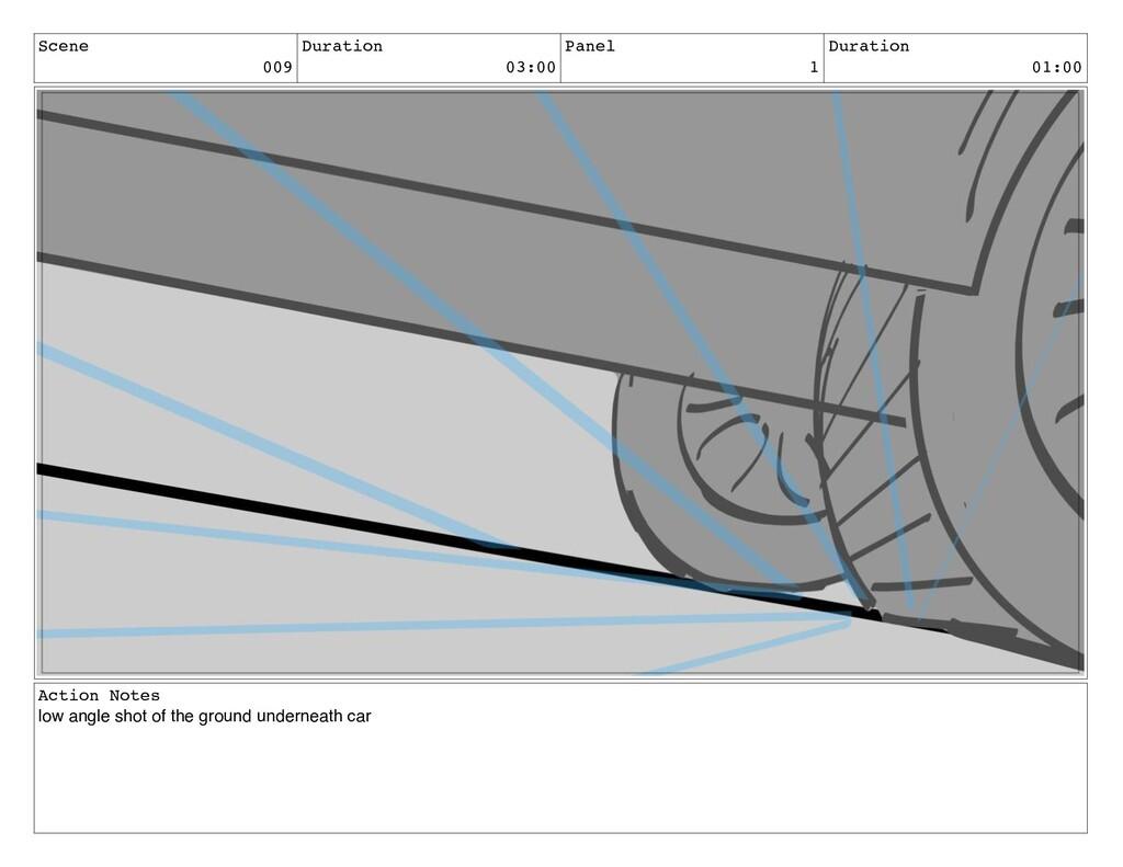 Scene 009 Duration 03:00 Panel 1 Duration 01:00...