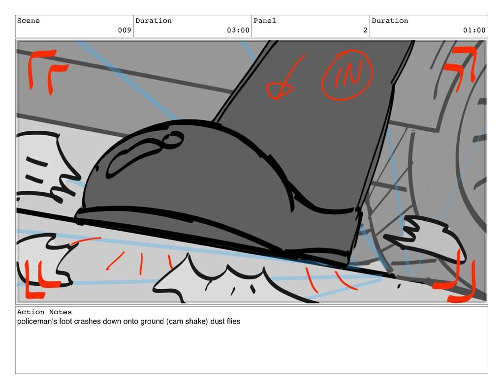 Scene 009 Duration 03:00 Panel 2 Duration 01:00...