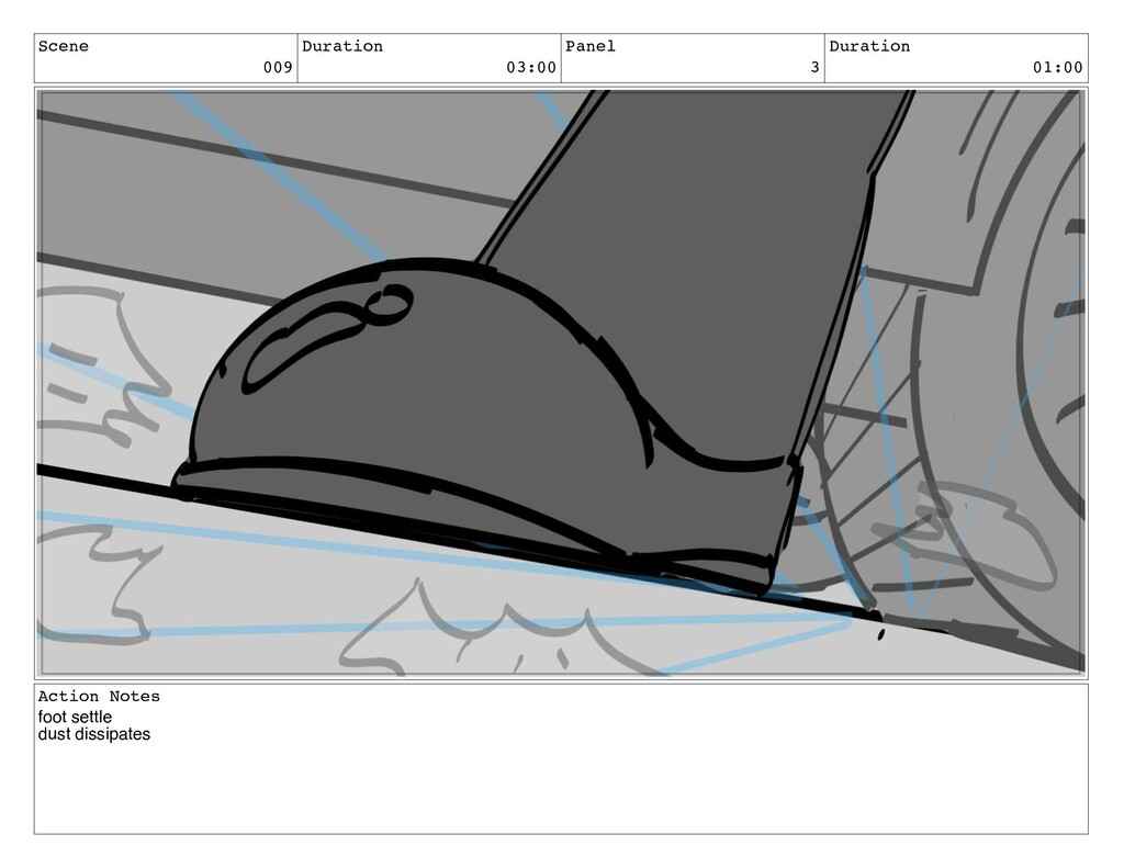 Scene 009 Duration 03:00 Panel 3 Duration 01:00...