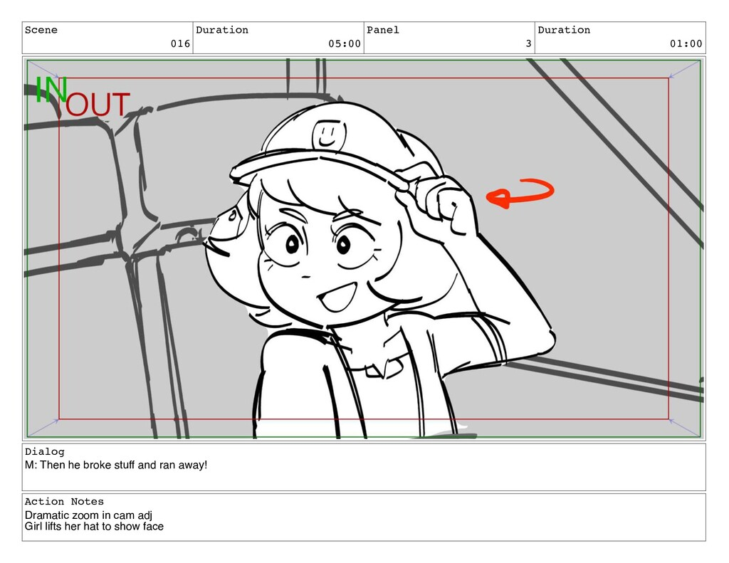 Scene 016 Duration 05:00 Panel 3 Duration 01:00...