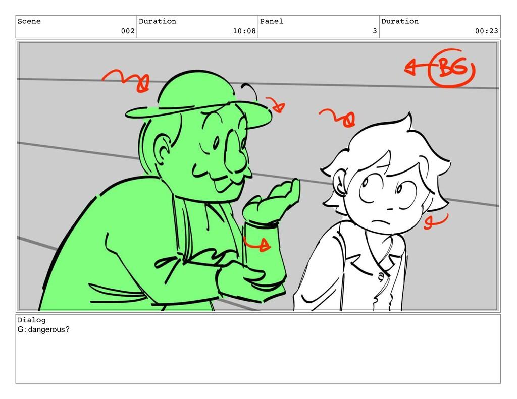 Scene 002 Duration 10:08 Panel 3 Duration 00:23...