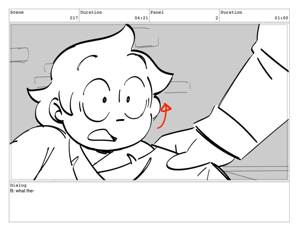 Scene 017 Duration 04:21 Panel 2 Duration 01:00...