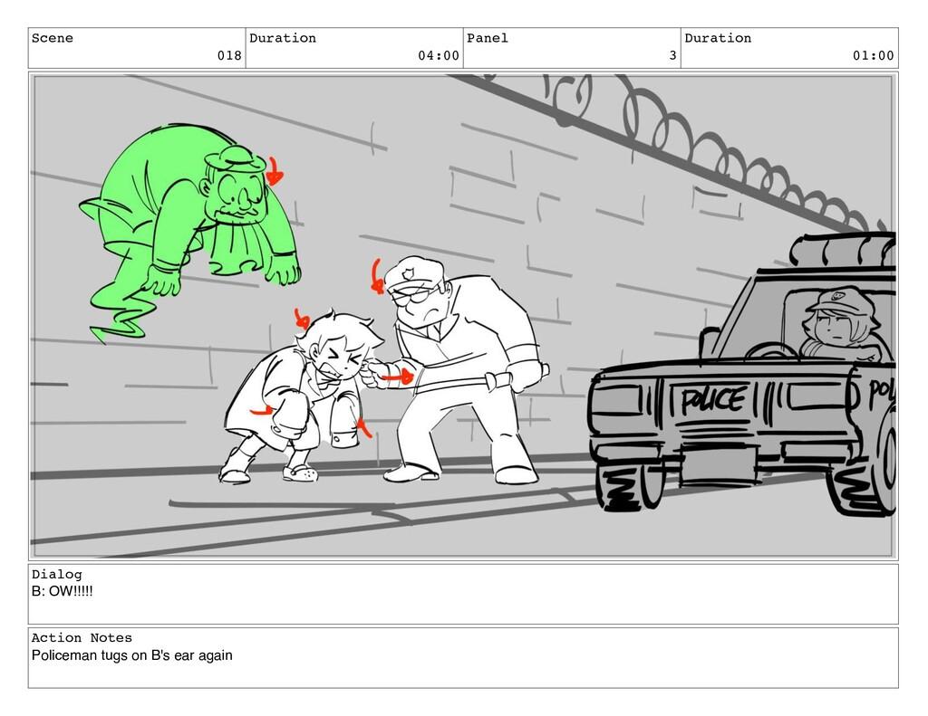 Scene 018 Duration 04:00 Panel 3 Duration 01:00...