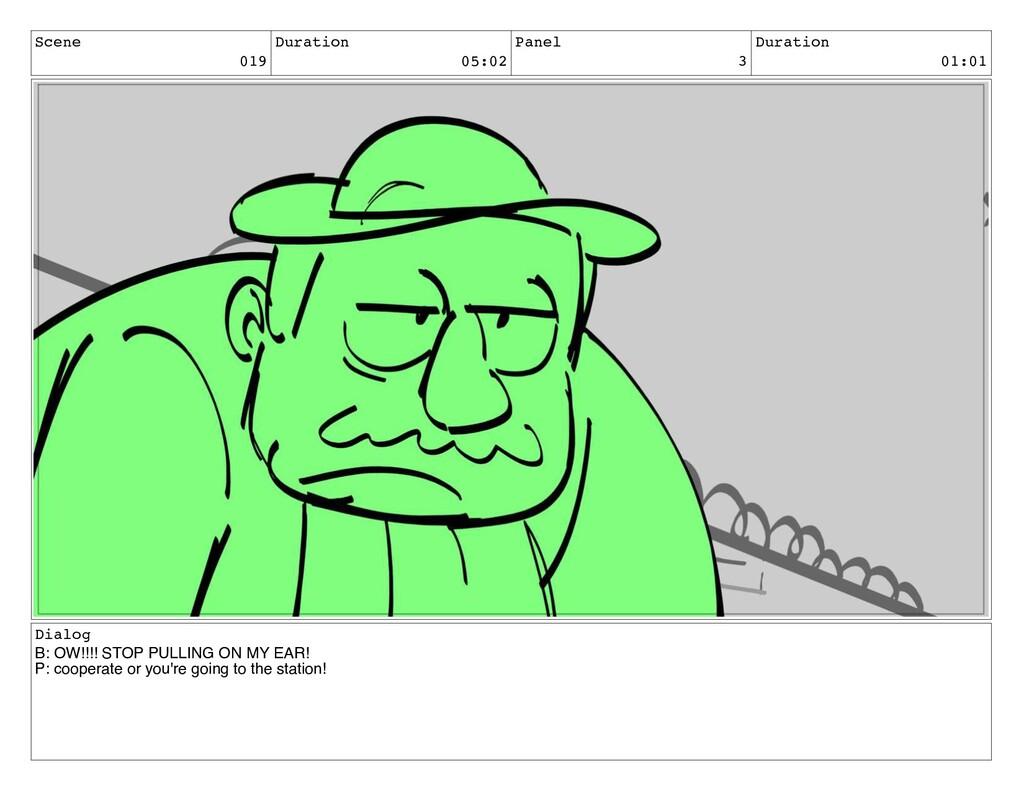 Scene 019 Duration 05:02 Panel 3 Duration 01:01...