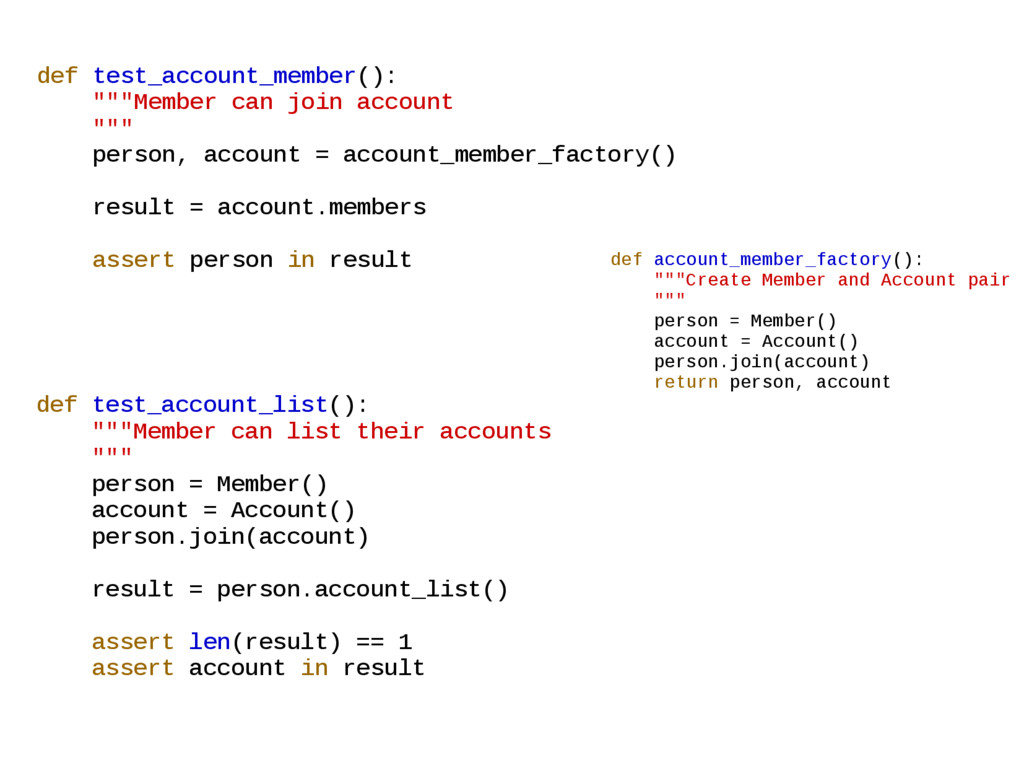 """def account_member_factory(): """"""""""""Create Member ..."""