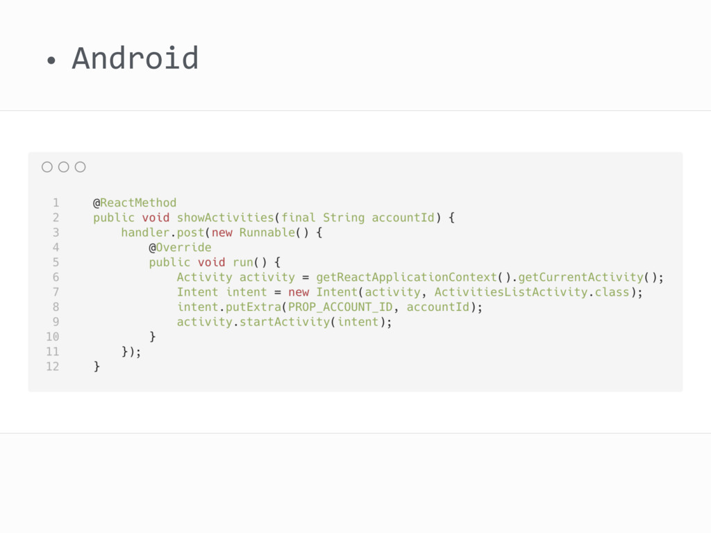 • Android