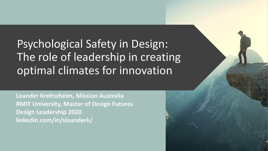 Leander Kreltszheim, Mission Australia RMIT Uni...