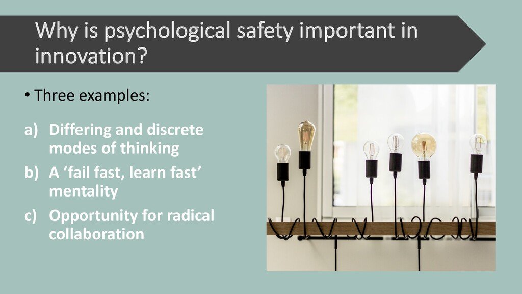 Why is psychological safety important in innova...