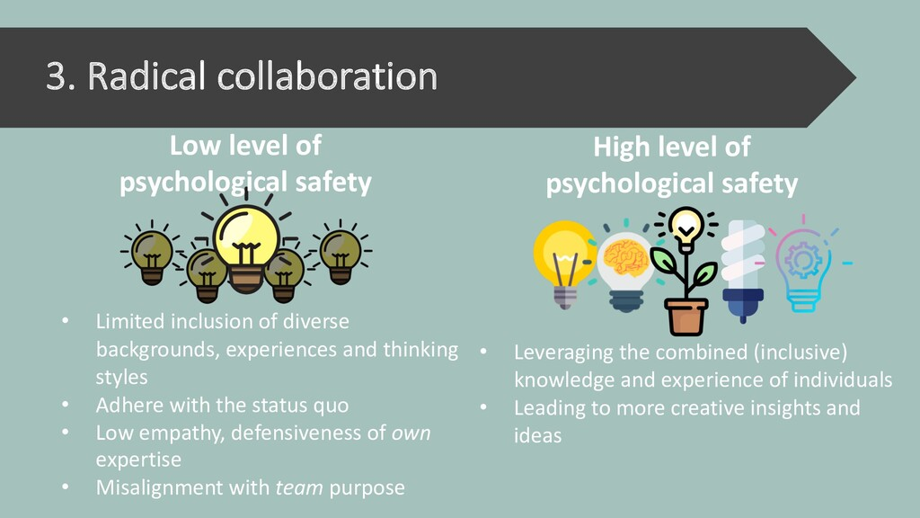 3. Radical collaboration • Limited inclusion of...