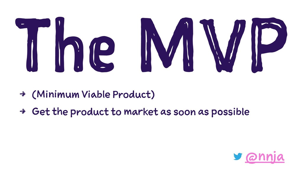 The MVP 4 (Minimum Viable Product) 4 Get the pr...