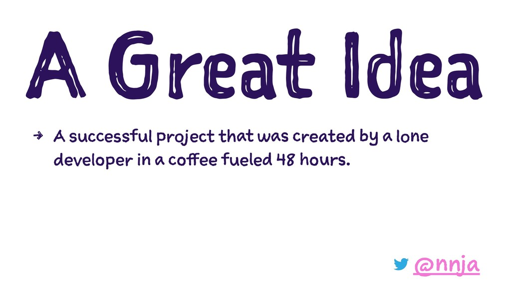A Great Idea 4 A successful project that was cr...