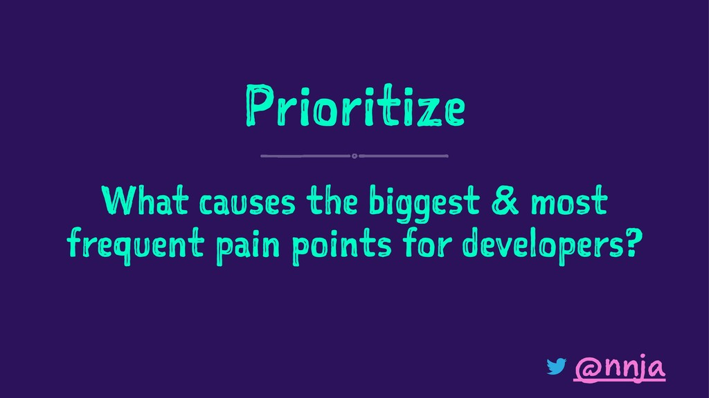 Prioritize What causes the biggest & most frequ...