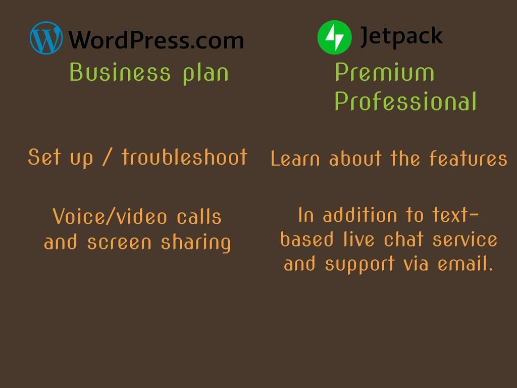 Premium Business plan Professional Set up / tro...