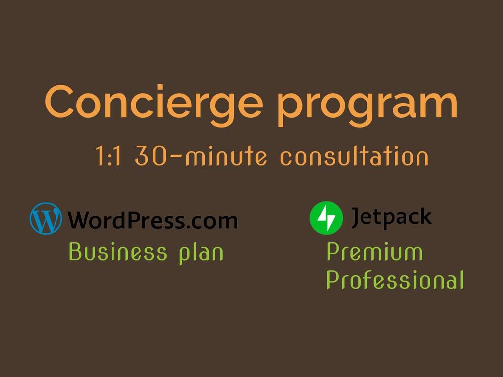 Concierge program 1:1 30-minute consultation Pr...