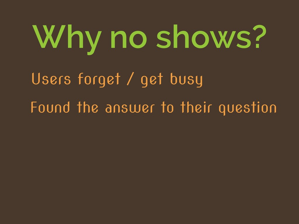 Why no shows? Found the answer to their questio...