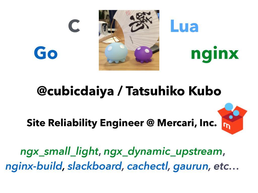 @cubicdaiya / Tatsuhiko Kubo Site Reliability E...