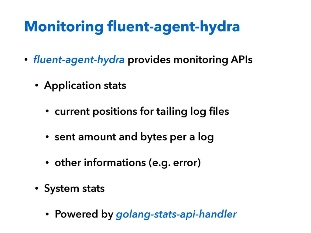 Monitoring fluent-agent-hydra • fluent-agent-hydr...