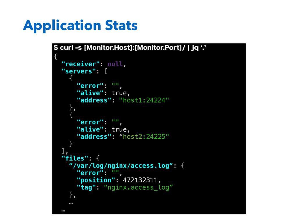 Application Stats DVSMT<.POJUPS)PTU><.PO...