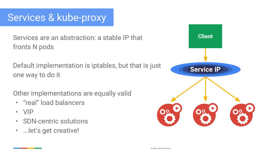 Google Cloud Platform Services & kube-proxy Ser...