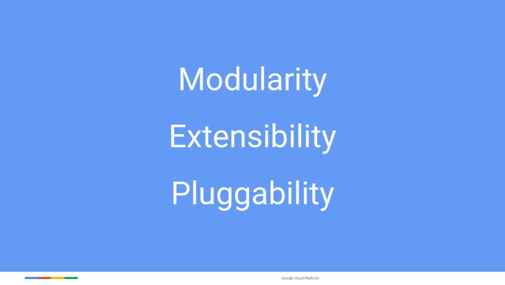 Google Cloud Platform Modularity Extensibility ...