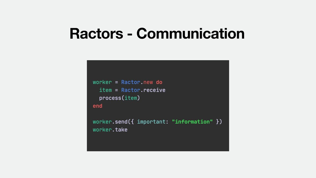 Ractors - Communication