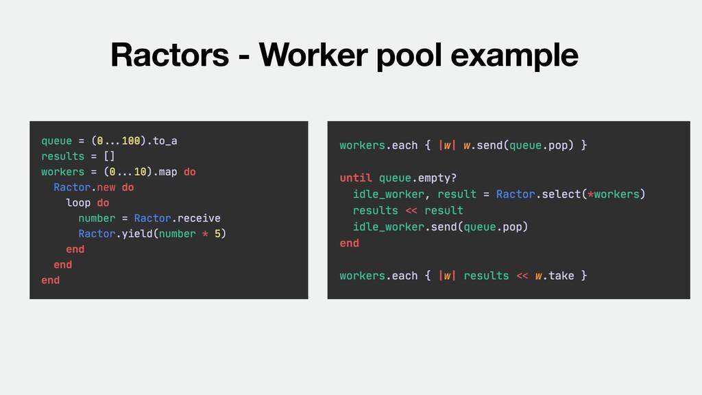 Ractors - Worker pool example