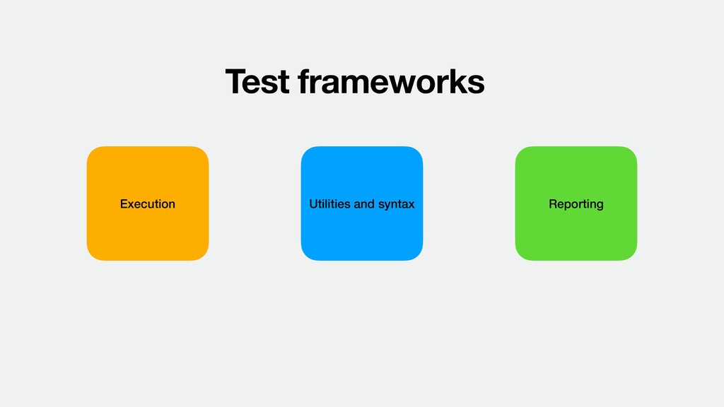 Test frameworks Execution Utilities and syntax ...