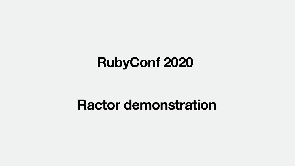 RubyConf 2020 Ractor demonstration