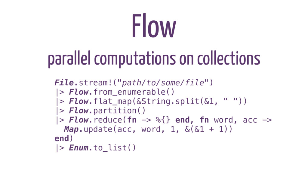 parallel computations on collections Flow File....