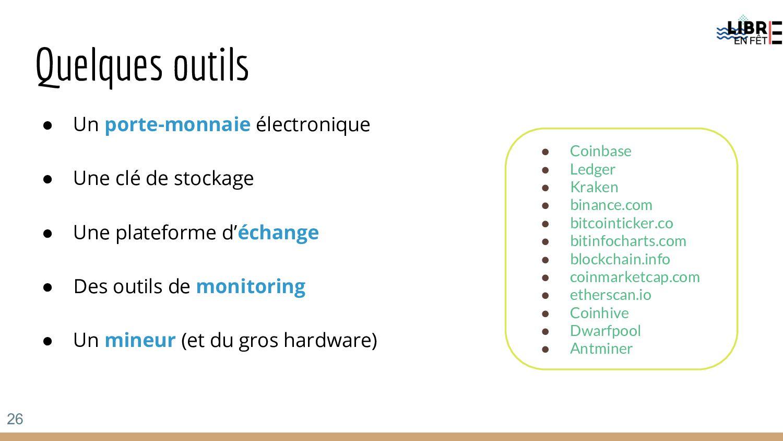 Quelques outils ● Un porte-monnaie électronique...