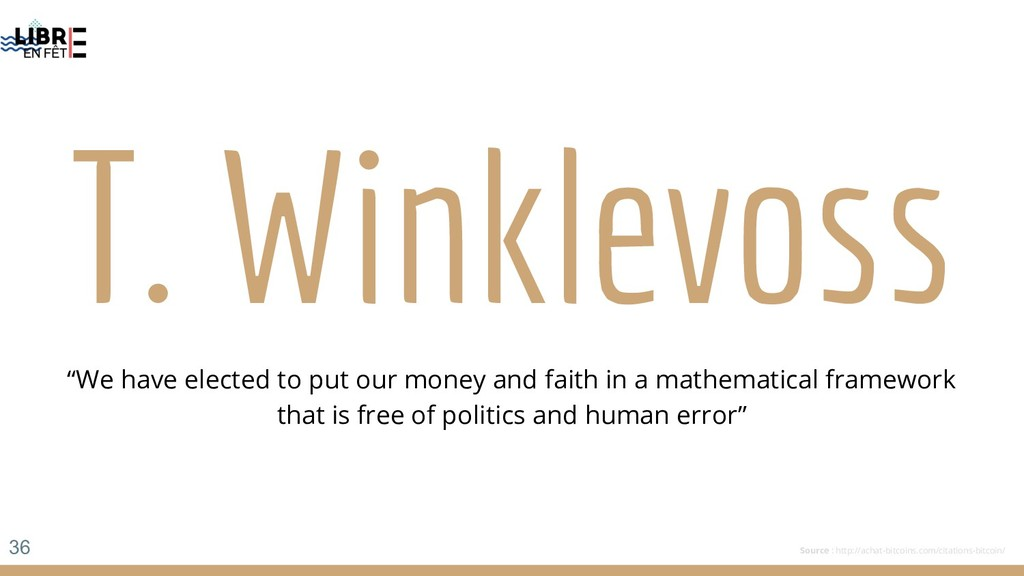 "T. Winklevoss ""We have elected to put our money..."