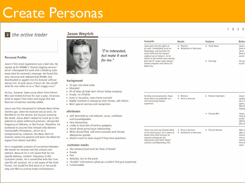 Create Personas