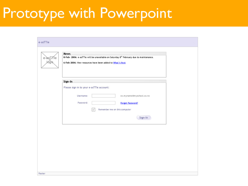 Prototype with Powerpoint Footer e-asTTle Welco...