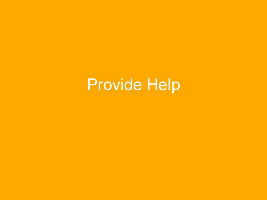 Provide Help