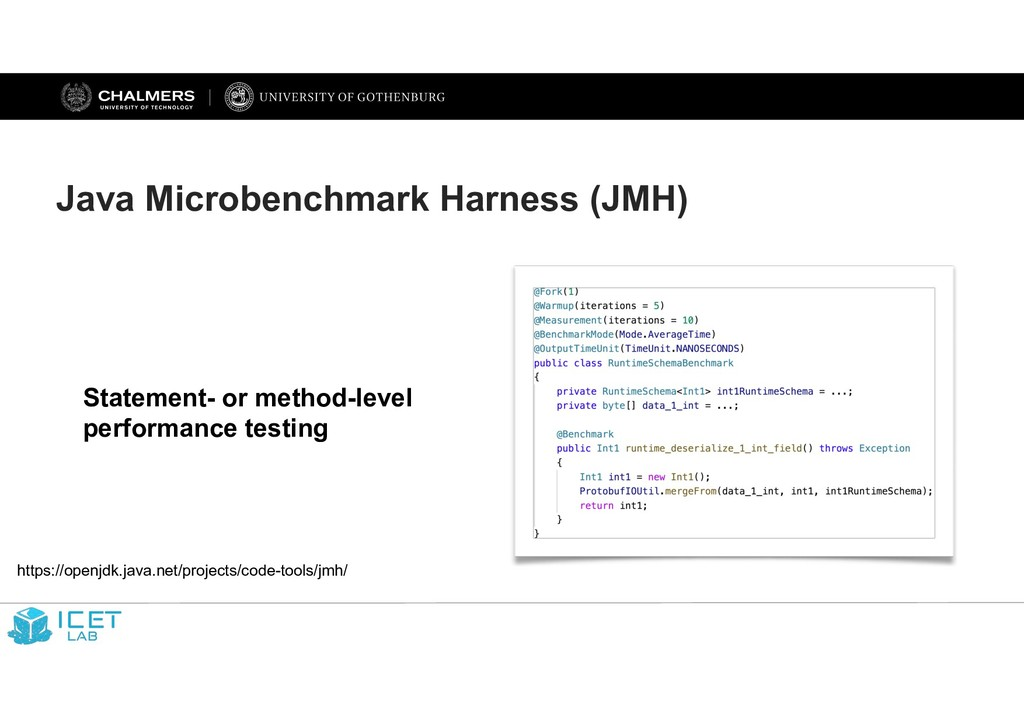 Java Microbenchmark Harness (JMH) Statement- or...
