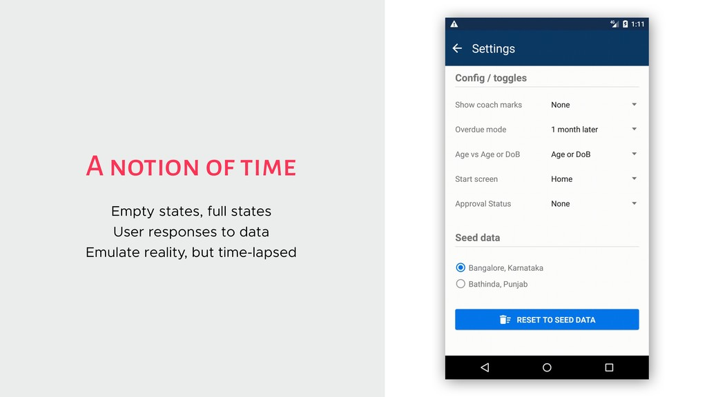 A notion of time Empty states, full states User...