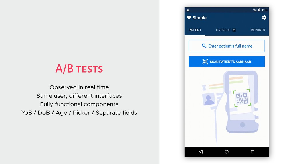 A/B tests Observed in real time Same user, diff...