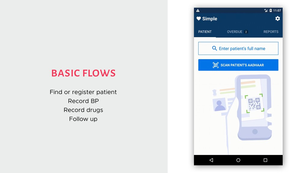 basic flows Find or register patient Record BP ...