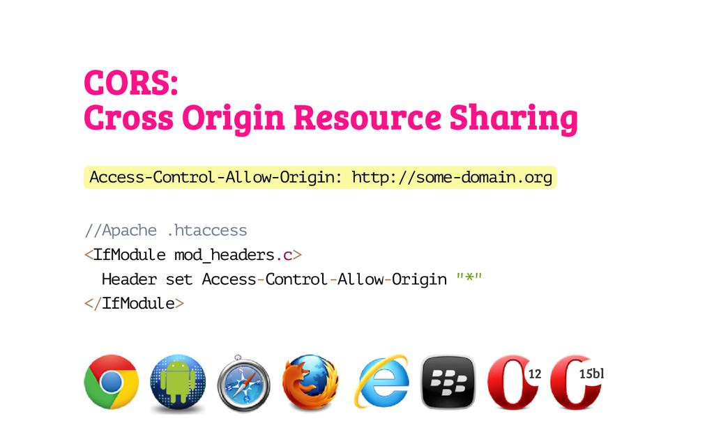 CORS: Cross Origin Resource Sharing A c c e s s...