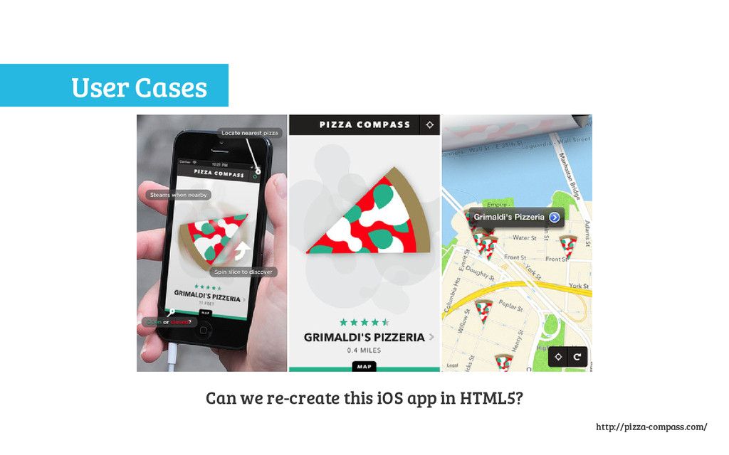 User Cases Can we re-create this iOS app in HTM...