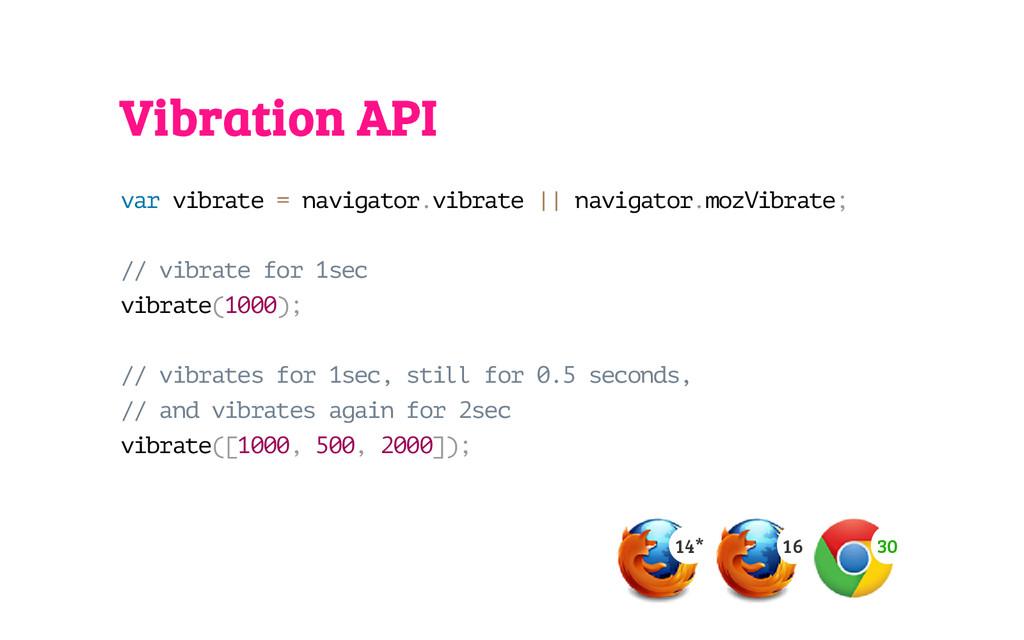 Vibration API v a r v i b r a t e = n a v i g a...