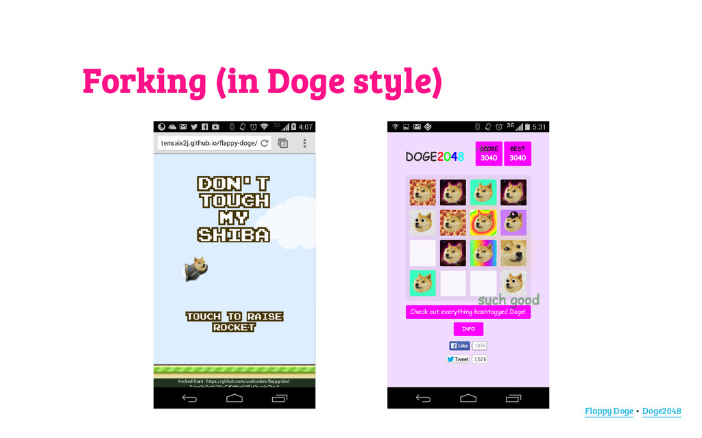 Forking (in Doge style) Flappy Doge • Doge2048