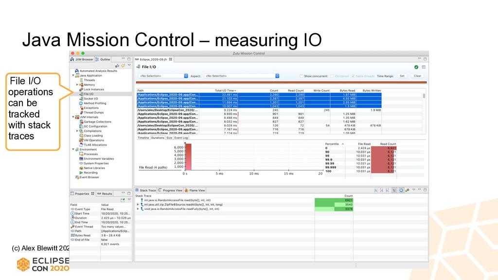 (c) Alex Blewitt 2020 Java Mission Control – me...
