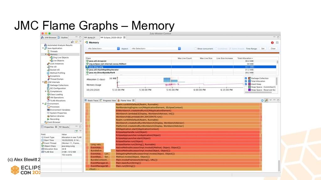 (c) Alex Blewitt 2020 JMC Flame Graphs – Memory