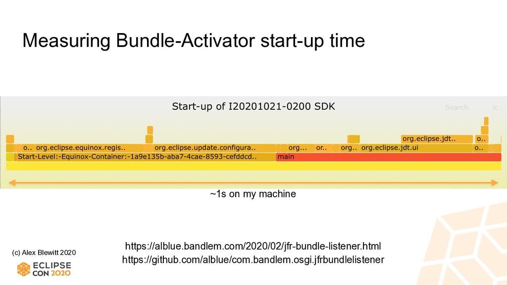 (c) Alex Blewitt 2020 Measuring Bundle-Activato...